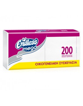 ΧΑΡΤΟΠΕΤΣΕΤΑ ΦΑΓΗΤΟΥ MEGA  ΛΕΥΚΗ 200Φ